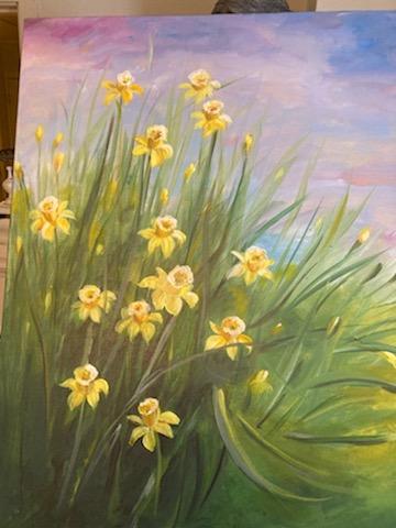 Anne Kari Scharp sitt maleri på Amatørutstillingen 2021