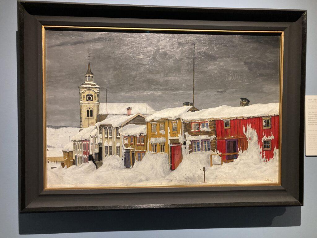 Harald Solberg - gate i Røros, etter snestorm